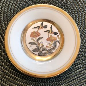 "Accents - Vintage - Japanese 24K  4"" Gold Trim Plate"